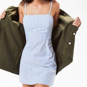 *Never Worn* Blue/White Striped Mini Dress